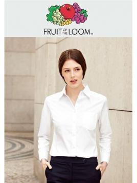 Fruit Ladies Poplin Long Sleeve Shirt