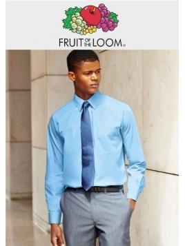 Fruit Men's Poplin Long Sleeve Shirt
