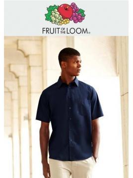 Fruit Men's Poplin Short Sleeve Shirt