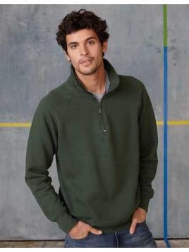 1/4 Zip Raglan Sleeves Sweatshirt