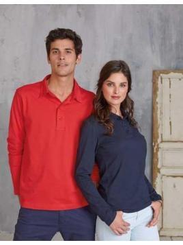 Jersey Langarm-Polohemd