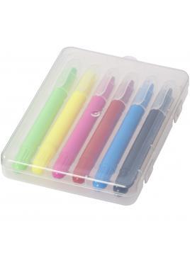 6 chowanych kredek świecowych Phiz w plastikowym pudełku