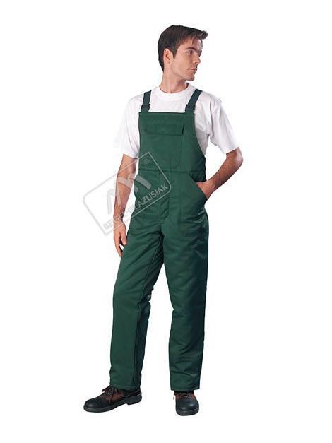 Spodnie ogrodniczki ocieplane