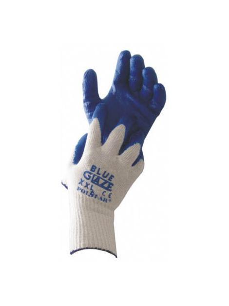 Rękawice powlekane gumą niebieska Glazura