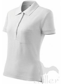 Koszulka polo damska Cotton biały