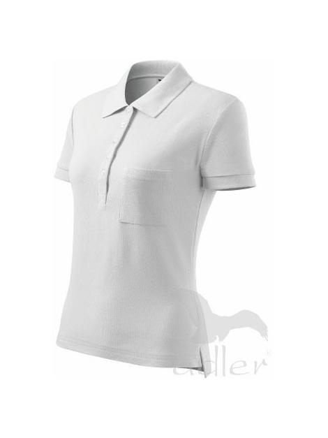Dancesations polo damska bawełna biały