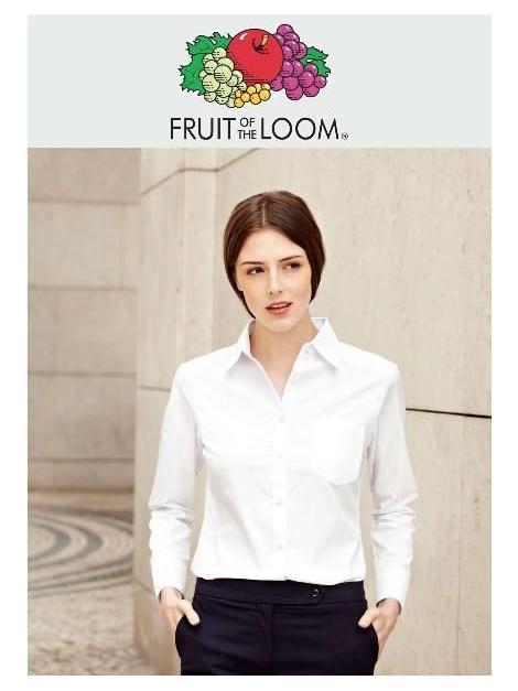 Owoce Panie koszula z POPELINY z długim rękawem