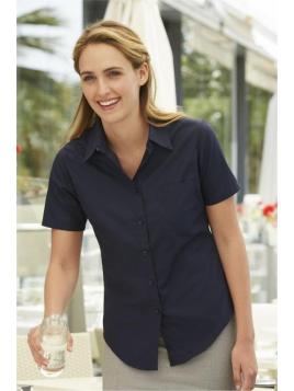 Fruit Ladies Poplin Short Sleeve Shirt