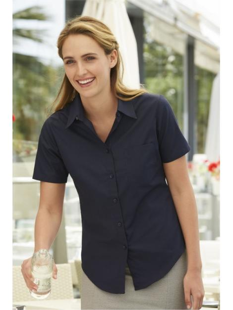 Fruit Ladies Poplin Short Sleeve Shirt
