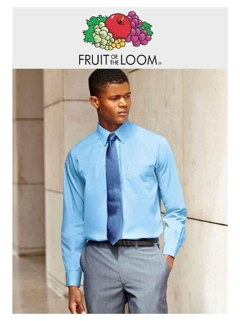 Koszulka z długim rękawem z POPELINY z owoców