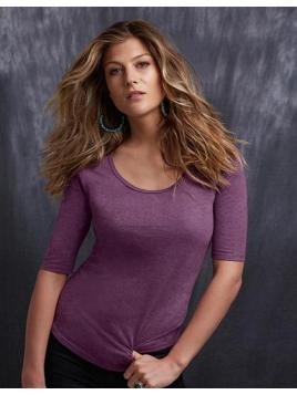Women's Tri-Blend Deep Scoop 1/2 Sleeve Tee
