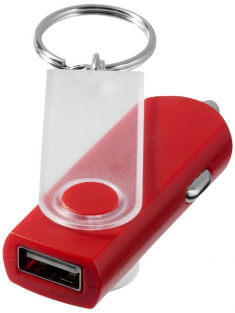 Brelok Swivel z ładowarką samochodową USB