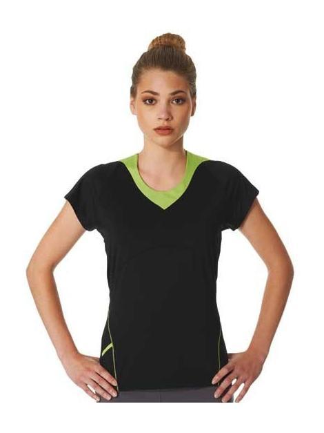 Panie dwukolorowy sportowy T-Shirt
