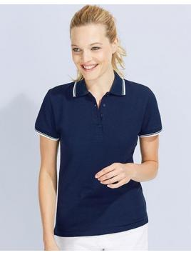 Koszulka damska polo dwukolorowa Practice