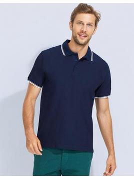Koszulka męska polo kontrastowa Contrast-Polo Practice
