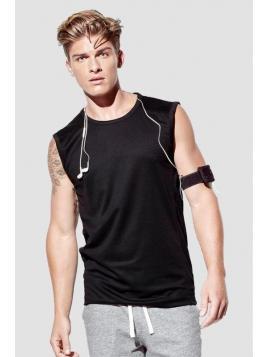 T-shirt bez rękawów sportowy męski